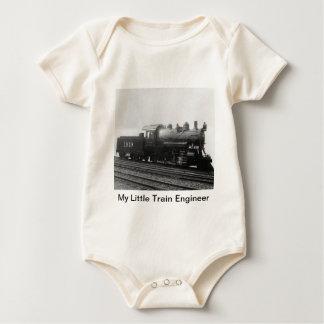 My Little Train Engineer Steam Engine Train Baby Bodysuit