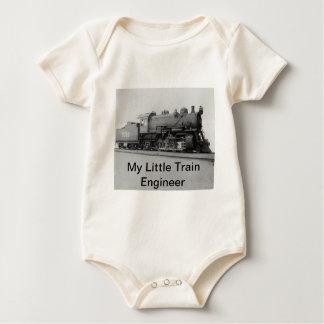My Little Train Engineer Vintage Steam Train Baby Bodysuit