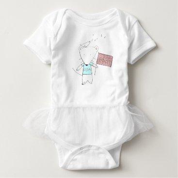 USA Themed my little usa. baby bodysuit