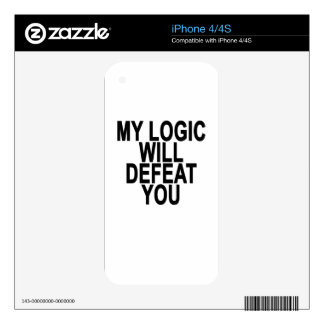 MY LOGIC WILL DEFEAT YOU.png iPhone 4S Decal