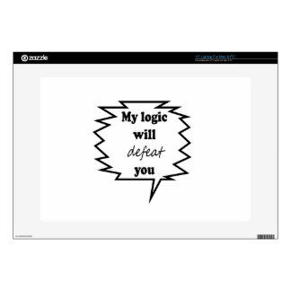 """My Logic Will Defeat You Decals For 15"""" Laptops"""