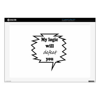 My Logic Will Defeat You Decal For Laptop