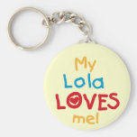My Lola Loves Me T-shirts and Gifts Key Chains