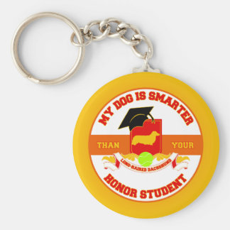 My Long-haired Dachshund Is Smarter Keychain