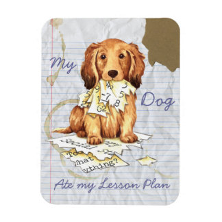 My Longhaired Dachshund Ate my Lesson Plan Magnet