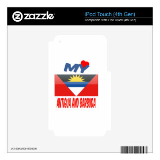 My Love Antigua and Barbuda. Skins For iPod Touch 4G