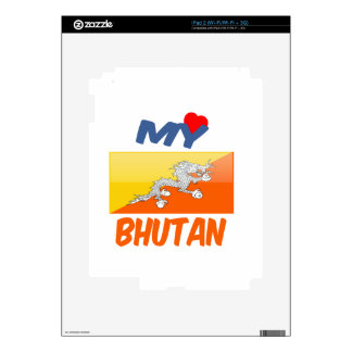 My Love Bhutan Decal For The iPad 2