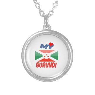 My Love Burundi Round Pendant Necklace