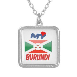 My Love Burundi Square Pendant Necklace
