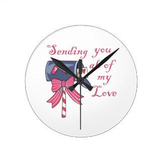 My Love Round Wall Clocks