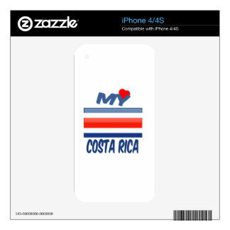 My Love Costa Rica. Skins For iPhone 4S