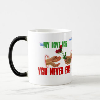 my love for you never end magic mug