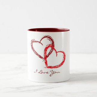 My love for you Two-Tone coffee mug