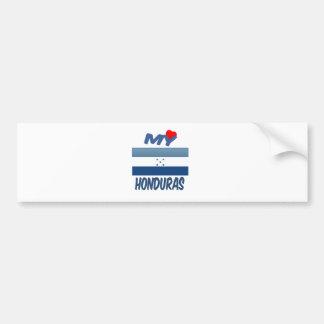 My Love Honduras Car Bumper Sticker