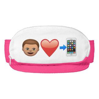 My Love Is A Cell Phone Emoji Cap-Sac Visor