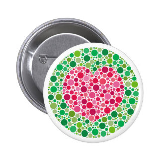 My Love is Colour Blind Button with border
