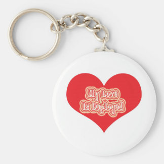 My Love Is Deployed Keychains