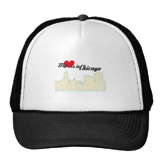 My Love Is In Chicago Mesh Hat