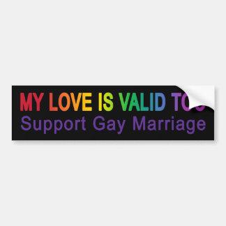 My Love Is Valid Too Bumper Sticker