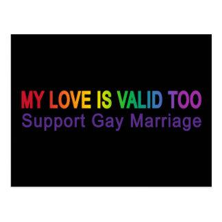 My Love Is Valid Too Postcard