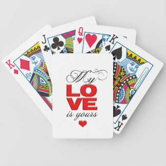 My love is yours bicycle playing cards