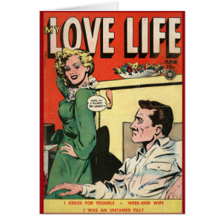 """My Love Life"" Vintage Comic Cover Card"