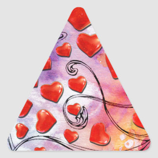MY LOVE LIKE THIS TRIANGLE STICKER