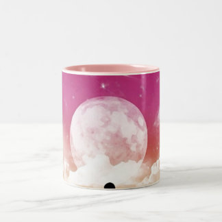 My Love, Mom Amour (him ciel étoilé) l´huile Two-Tone Coffee Mug