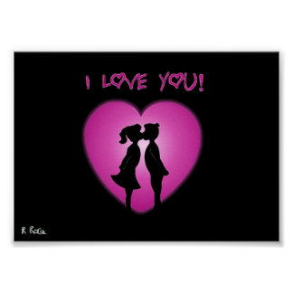 My Love,Mom Amour l´huile Poster
