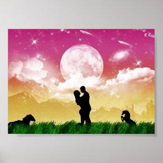 My Love, Mom Amour (le ciel étoilé) l´huile Posters