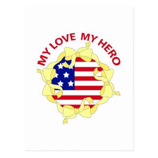 MY LOVE MY HERO POSTCARD