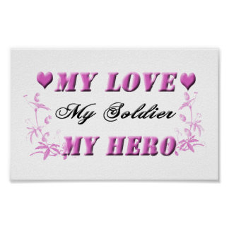 My Love My Soldier My Hero Poster