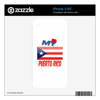 My Love Puerto Rico. Decal For The iPhone 4