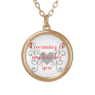 My Love Round Pendant Necklace