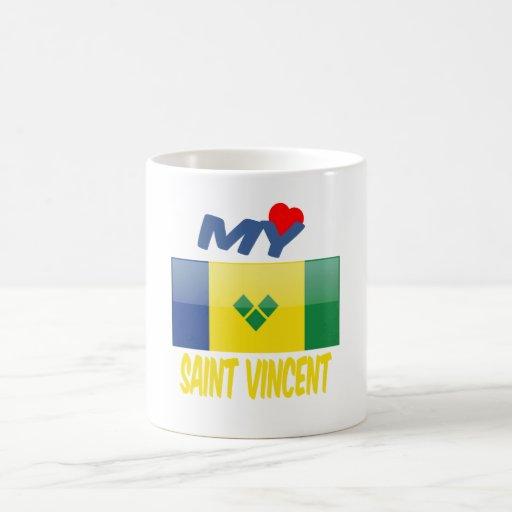My Love Saint Vincent. Classic White Coffee Mug