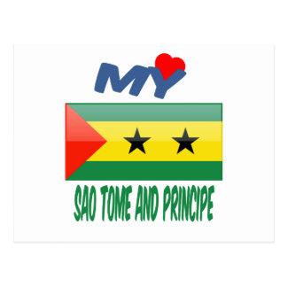 My Love São Tomé and Príncipe. Postcard