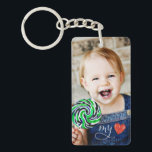 "My Love Sweet Photo Double Sided Keychain<br><div class=""desc"">Show off the one who has stolen your heart with this sweet photo double sided keychain! Share two photos (one on each side) and include optional text, such as a name, to further personalize your design. Sweet heart graphics accent your beautiful photos and can be removed if desired. Please remember...</div>"