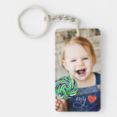 My Love Sweet Photo Double Sided Keychain at Zazzle