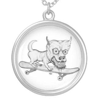 My Lovely little Dog - Bleistiftzeichnung Collar Plateado