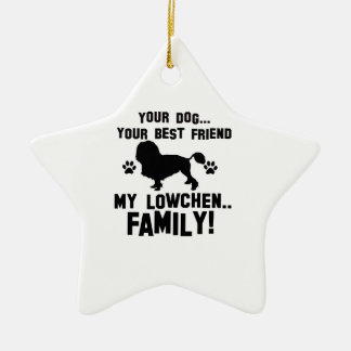 My lowchen family, your dog just a best friend ceramic ornament