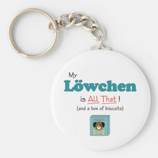 My Lowchen is All That! Keychain