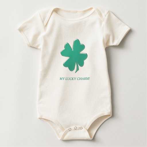"""My Lucky Charm!"" Baby Bodysuits"