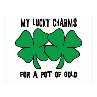 My Lucky Charms For A Pot Of Gold Gift Postcard