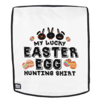 My Lucky Easter Egg Hunting Bunny Cute Backpack
