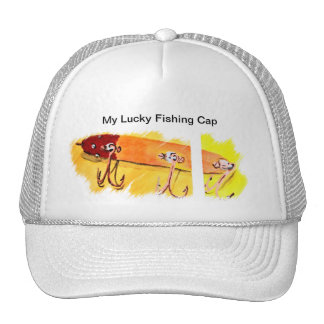 My Lucky Fishing Cap Mesh Hats