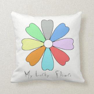 My Lucky Flower Throw Pillow