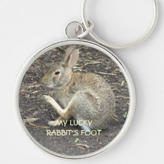 MY LUCKY RABBIT'S FOOT KEYCHAIN