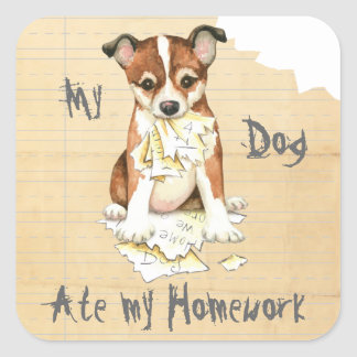 My Lundehund Ate My Homework Square Sticker