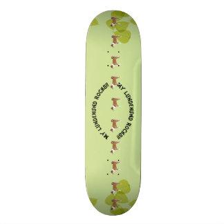 My Lundehund Rocks!! on Green Leaves Skateboard