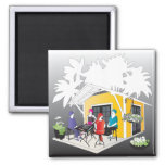 My Mah Jongg Cottage 2 Inch Square Magnet